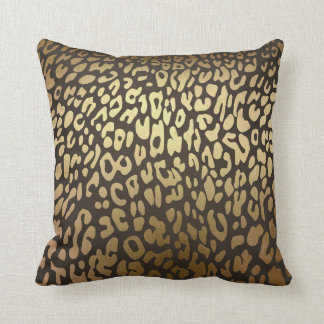 Leopard Cheetah Animal Skin Print Modern Glam Gold Throw Pillow