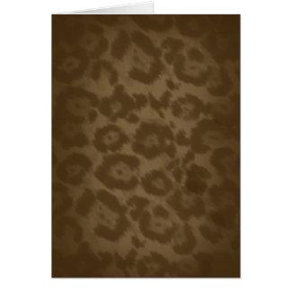 Leopard Cheetah Card
