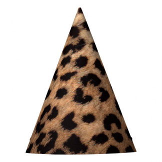 Leopard Cheetah Print Wild Jungle Birthday Party Party Hat
