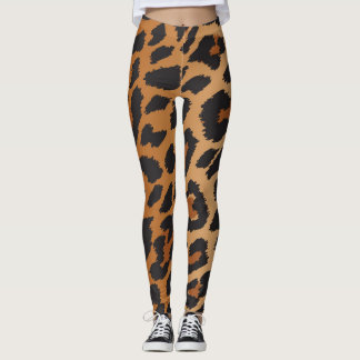 Leopard Cheetah Spots Wild Animal Print Pattern Leggings