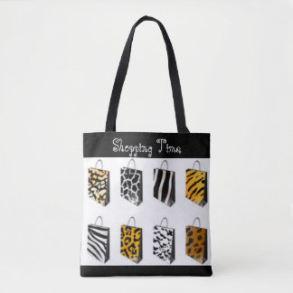 Leopard Cheetah Tiger Zebra Shopping Bags