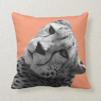 Leopard cheetah wild animal photo nursery kid room throw pillow