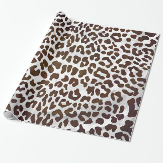Leopard Chocolate Print Wrapping Paper
