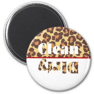 Leopard Clean/Dirty Dishwasher Magnet
