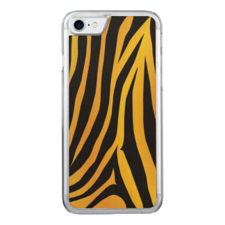 Leopard cover Carved Apple iPhone 7 Wood Case