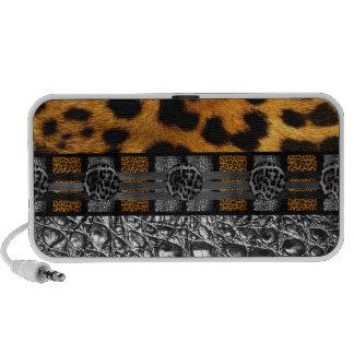 Leopard Crocodile Texture Travel Speakers