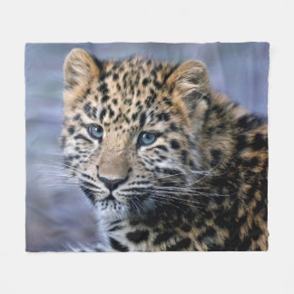 Leopard Cub Fleece Blanket