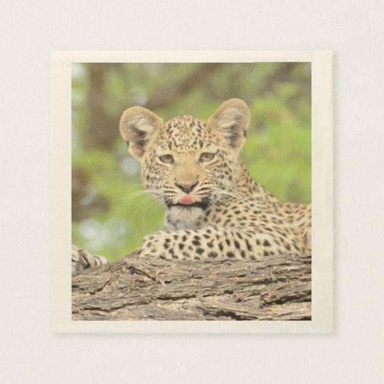 Leopard Cub With Attitude Paper Napkin