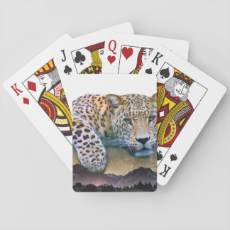 Leopard Double Exposure Playing Cards