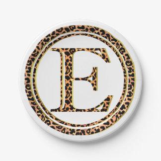 leopard E Paper Plate