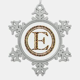 leopard E Pewter Snowflake Ornament