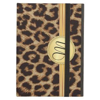 Leopard Elegant Gold Monogram Case For iPad Air