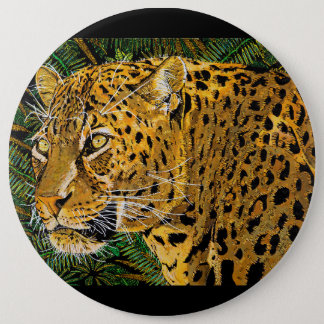 LEOPARD EYES 6 INCH ROUND BUTTON
