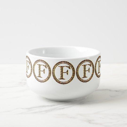 leopard F Soup Mug