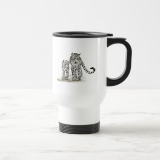 Leopard family travel Mug