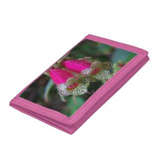 Leopard Flower Design Tri-fold Wallet