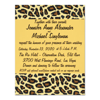 Leopard Fur  Contemporary Wedding Card