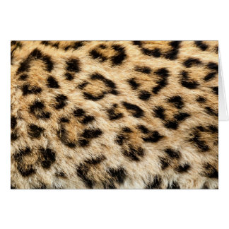 Leopard Fur Greeting Card