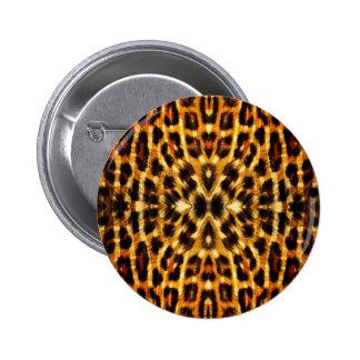 Leopard Fur Pattern 2 Inch Round Button