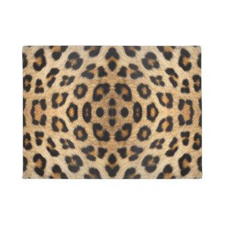 Leopard fur pattern doormat