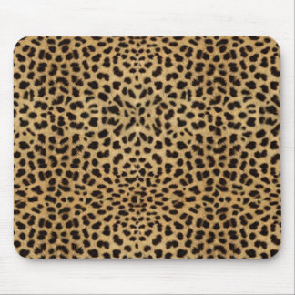 Leopard fur pattern mouse pad