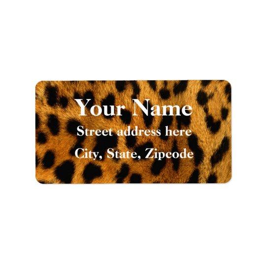 Leopard Fur Print Label