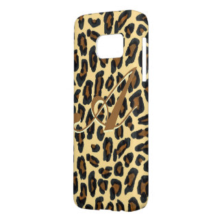 Leopard Fur Print Monogram Case