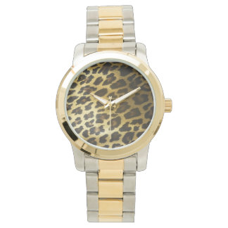 Leopard Fur Print Wristwatches