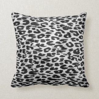 Leopard fur skin throw pillow