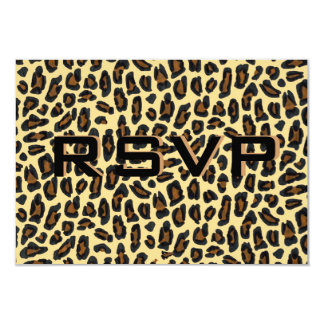 Leopard Fur Wedding Reception RSVP Card