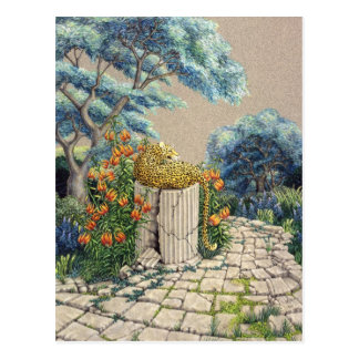Leopard Garden Postcard