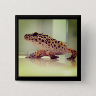 Leopard Gecko 2 Inch Square Button