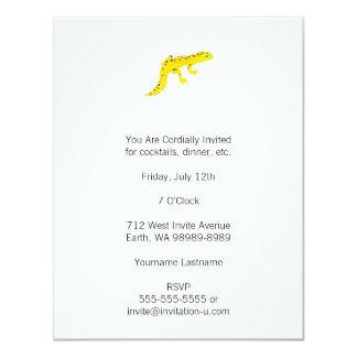 "Leopard Gecko 4.25"" X 5.5"" Invitation Card"