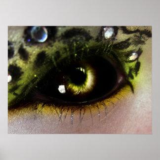 Leopard Glam Eye Poster