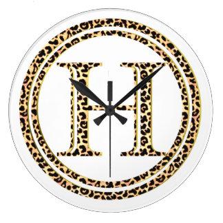 Leopard H Large Clock