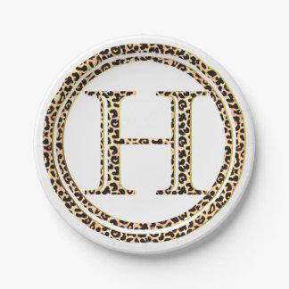 Leopard H Paper Plate