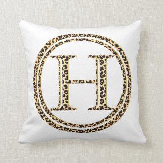 Leopard H Throw Pillow
