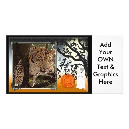 leopard-halloween-2010-0025-h photo greeting card