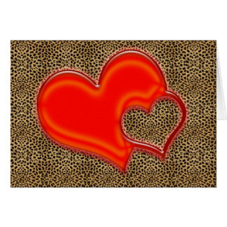 leopard heart card
