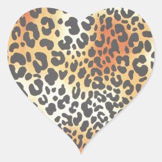 Leopard Heart Sticker