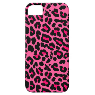 Leopard hot pink iPhone 5 cover