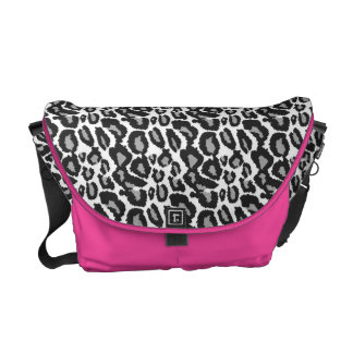 Leopard Hot Pink Zebra Black White Animal print Commuter Bags