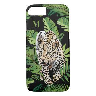 Leopard Illustration custom monogram phone cases