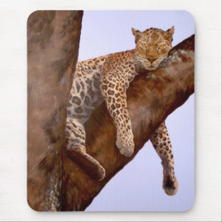 Leopard in a Baobob Tree Mouse Pad