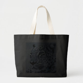 Leopard in Black and White Tote Bag