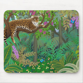 Leopard in Central American Jungle Mousepad
