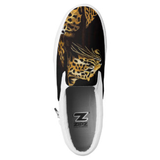 Leopard in the darkness Slip-On sneakers