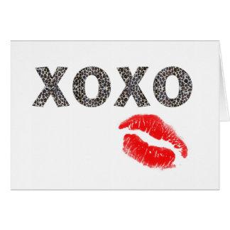 leopard kisses card
