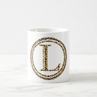 leopard L Coffee Mug