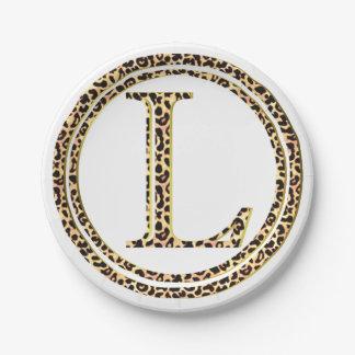 leopard L Paper Plate